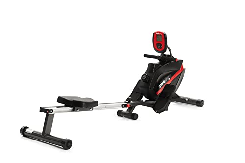 SportPlus Rudergerät klappbar für zuhause - 8 Stufen, leises & wartungsfreies Magnetbremssystem, kugelgelagerter Rudersitz, Rudermaschine mit Trainingscomputer, TÜV-geprüft