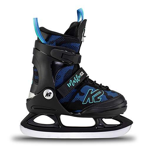 K2 Skates Mädchen Schlittschuhe Marlee Ice — camo - Blue — EU: 26 - 31 (UK: 7 - 11 / US: 8 - 12) — 25E0020