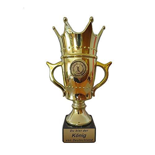 RaRu Krone/Königs-Pokal mit Ihrer Wunschgravur und wählbarem Sport-Emblem (Eishockey)
