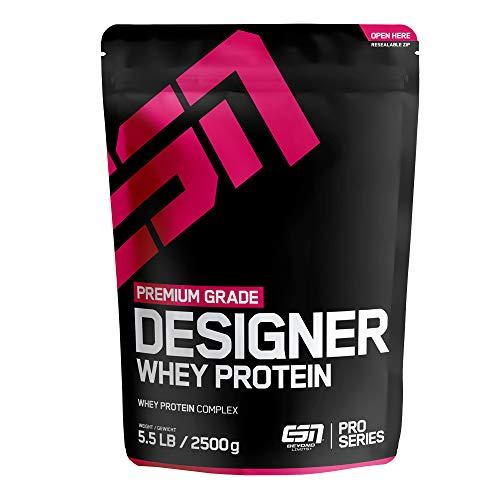 ESN Designer Whey Protein Big Pack – 2500g – Vanilla (Classic) – Eiweißpulver reich an essentiellen Aminosäuren (EAAs) – Sehr gut löslich – 83 Portionen – Made in Germany