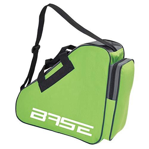 BASE - Skatebag I Schlittschuhtasche mit Henkeln I Eishockey-Bag mit Reisverschluss & praktischen Fächern I inkl. verstellbarem Trageriemen, grün