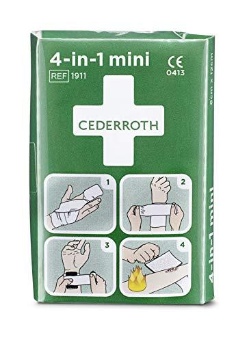Cederroth ® | 4-in-1 Blutstiller Mini | Steriler Universalverband, der sich besonders für Finger und Zehen eignet. 4 verschiedene Funktionen: Blutung, Wunden, Verbrennungen und Stützverband