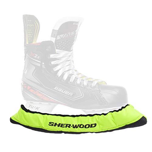 SHER-WOOD Junior Pro elastische Kufenstrümpfe für Kinder Eishockey-& Schlittschuhe, 2 Stück, Limone, One Size