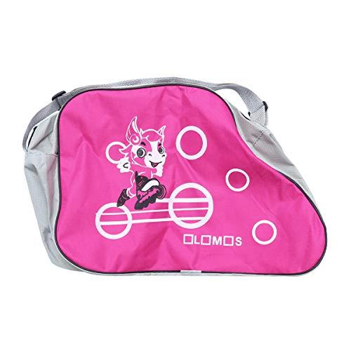 LIOOBO Schlittschuhtasche Gedruckt Skating Schuhe Aufbewahrungstasche Tragbar Verstellbarer Schultergurt Rollschuhe Inline-Skates für Kinder Erwachsene (Rosa)