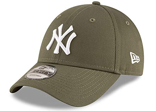 New Era New York Yankees MLB League Essential Olive 9Forty Adjustable Cap - One-Size