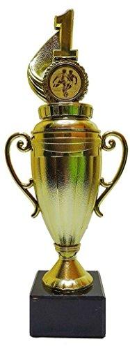 RaRu Pokal für Viele Verschiedene Sportarten mit Gravur und 3 Anstecknadeln (Sticker) (Eishockey)