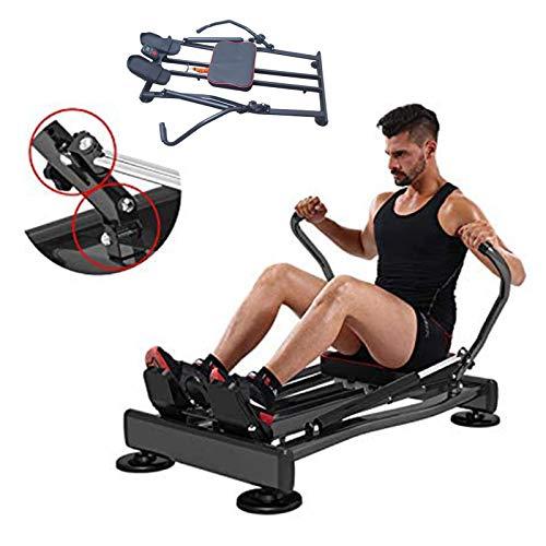 FFitness FLMD412N Rudergerät für das professionelle Training zu Hause und Fitness, hydraulisch, Cardio Total Body Trainer Crunch, Schwarz, Einheitsgröße