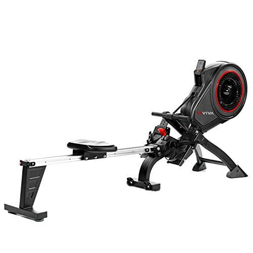 AsVIVA RA14 Rudergerät Magnetic Rower Cardio mit 13kg Schwungmasse, Magnetbremse mit 8 manuelle Widerstandsstufen, Multifunktionscomputer mit Pulsmessung