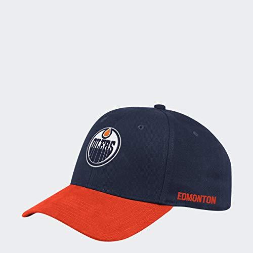 adidas Edmonton Oilers 2019/20 NHL Coach Flex Fit NHL Cap, S/M