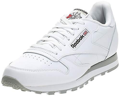 Reebok Herren Classic Lthr 2214 Sneaker, Weiß (Int-White/Lt. Grey), 44 EU