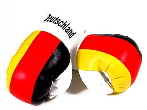 Mini Boxhandschuhe DEUTSCHLAND, 1 Paar (2 Stück) Miniboxhandschuhe z. B. für Auto-Innenspiegel