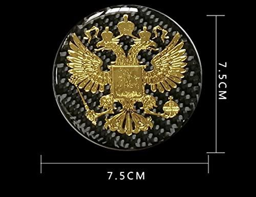 Max Auto Carbon echt Carbon hochwertig Metall Aufkleber Russische Föderation Adler Russia Russland Россия Pусский