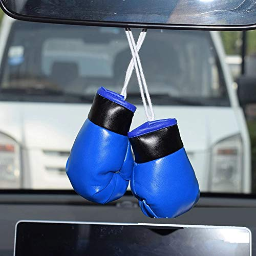 Urhause Auto Mini Boxhandschuh,Einheitsgröße Rückspiegel Schlüsselbund Anhänger Hängende Dekoration Autogramm Mini Boxhandschuhe Rückspiegel Geschenk Flaggen fürs Auto Russland oder Zuhause