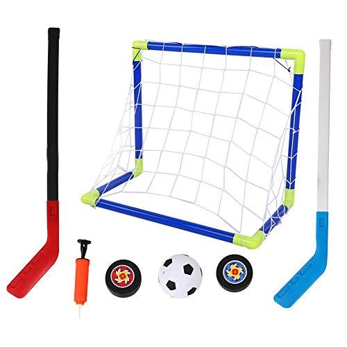T best Mini Goal Sports Set, 2 in 1 Outdoor Sport Kinder Fußball Eishockey Ziel Kit mit Bällen Pump Kid Trainingsspielzeug für Kinder Kinder