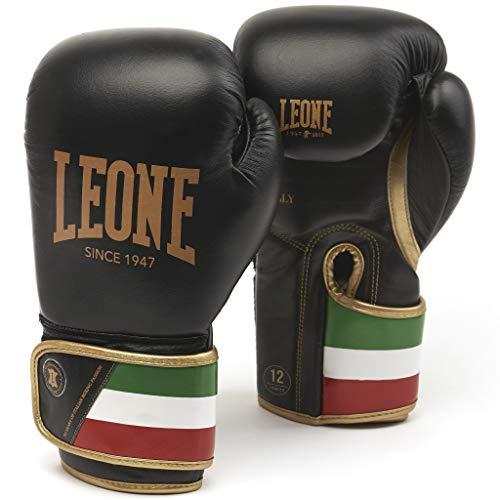 LEONE 1947 GN039 Boxhandschuhe, Unisex – Erwachsene, schwarz, 14OZ