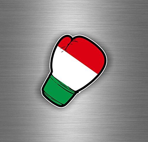 Akachafactory Aufkleber Sticker Auto Motorrad Boxhandschuh Flagge JDM Italien Italienisch R2