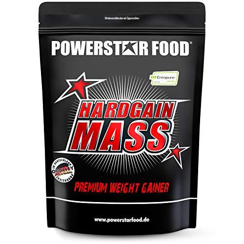 HARDGAIN MASS   1600g   PREMIUM WEIGHT GAINER   Ohne Süßstoffe, Aromen & Zuckerzusatz   Höchster Proteingehalt 27%   Mit Kreatin (Creapure)   Masse, Kraft & schneller Muskelaufbau   Natural
