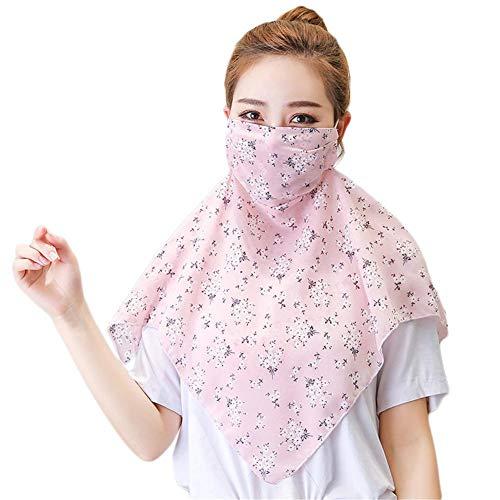 QueenHome Sonnenschutz-Gesichtsschutz Staubdicht atmungsaktiver Nackenschutz Bandana Ice Silk Headwear zum Wandern Radfahren im Freien