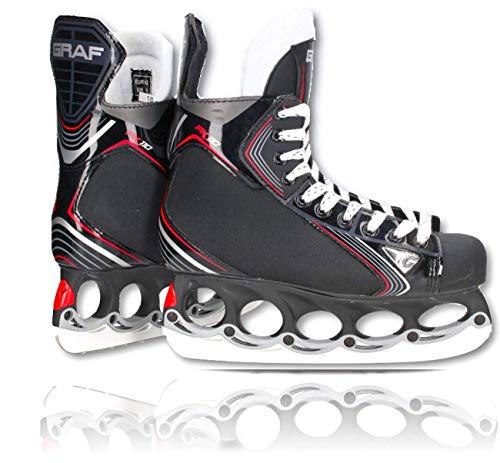 tblade Schlittschuhe GRAF Pk110 Eishockey und Freestyle t Blade Schlittschuhe Eislaufen Größe 39