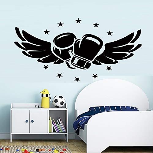 Fliegende Boxhandschuhe Wandaufkleber für Kinderzimmer Schlafzimmer Box Hall Fitness Club Jungen Raumdekoration Tapete A1 43x21cm